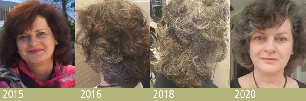 gradual greying progression shots